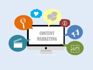 Animation of the types of content to optimize for your website.